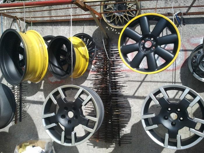 Термополимерная покраска колесных дисков