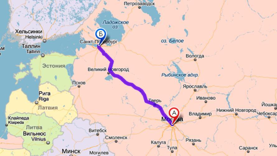 Услуги доставки грузов из Москвы в Санкт-Петербург